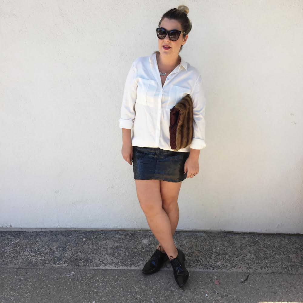 H&m Loose White Button Down